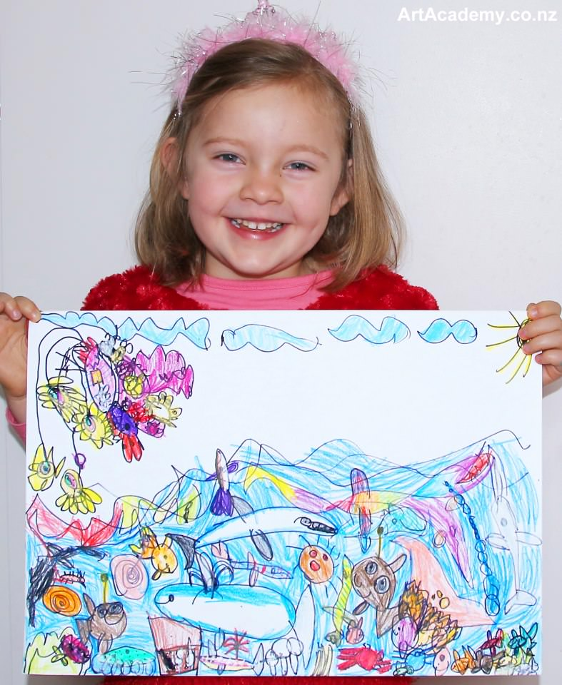 72216280c83c7d Just like any parent I wanted to share my love for drawing with my  daughter. When she turned 2 years old I started teaching her to draw what  she sees in ...