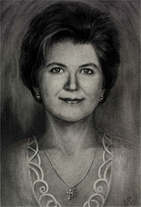 Commission portrait drawing by artist Elena Esina